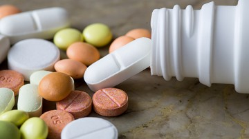 colorful medication and pills